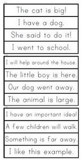 sight word phrase cards (Fry's)