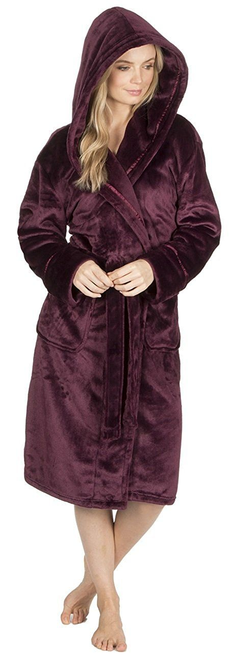 KATE MORGAN Ladies Soft & Cosy Dressing Gown: Amazon.co.uk: Clothing