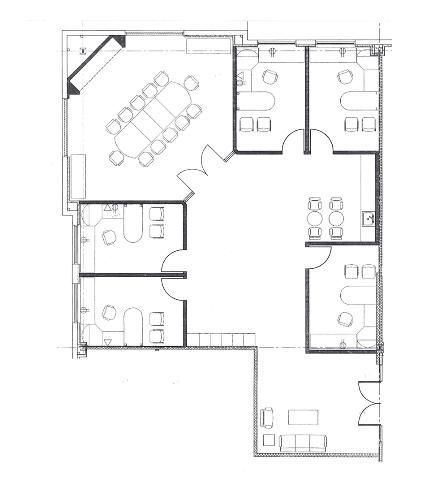 4 small offices floor plans sample floor plan drawings for Small office building design plans