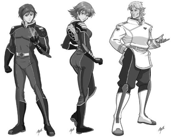 Marcus Rush, Maia Sterling, & Rick Hunter - Robotech: The ... Robotech Shadow Chronicles Characters