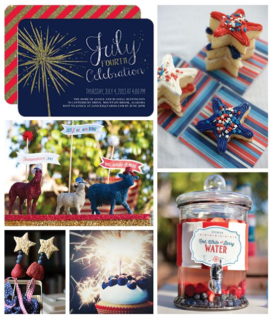 Add some sparkle to your 4th of July celebration! A glittery invitation will help set the tone, along with some crafty details and sweet treats.