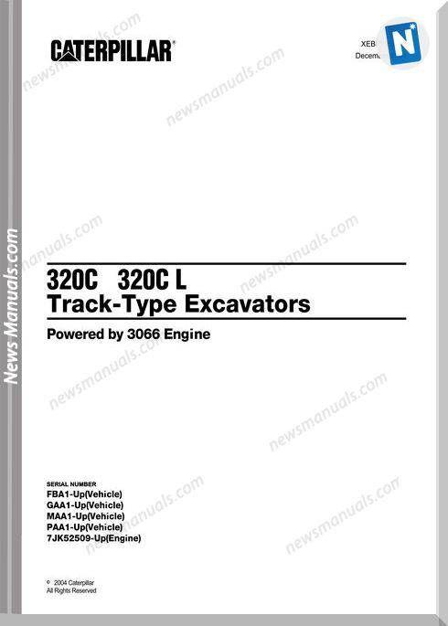Caterpillar 320c 320c L Excavators Parts Manual Excavator Parts Excavator Caterpillar