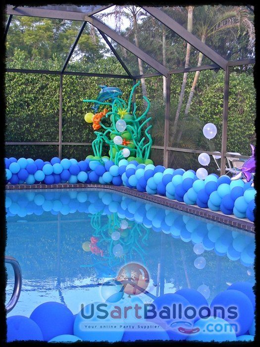 poolside balloons