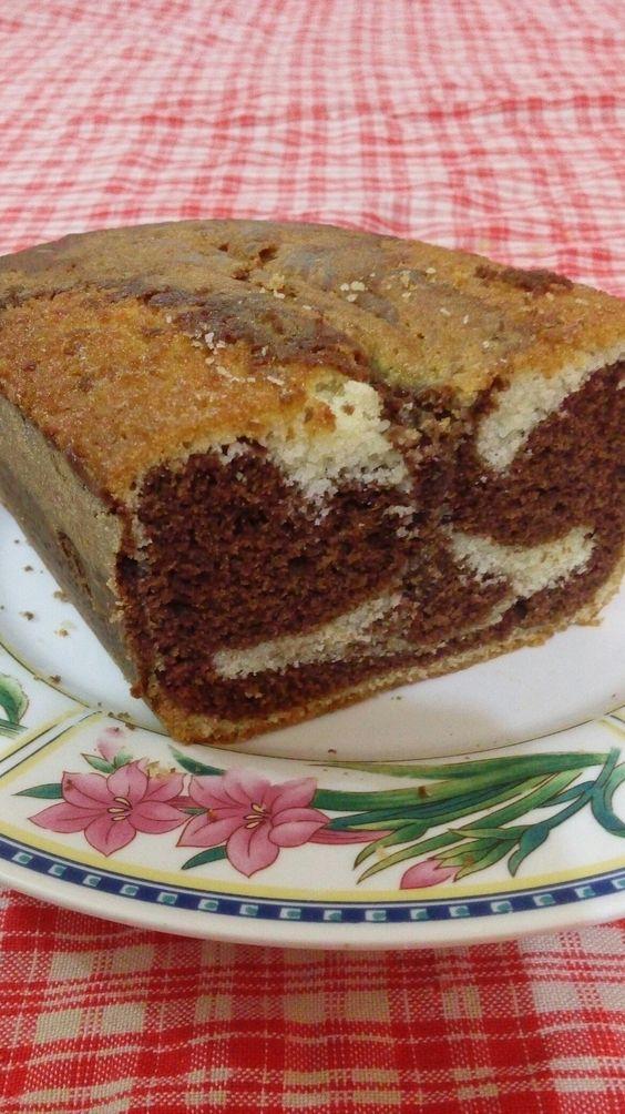 Torta marmolada de vainilla y chocolate!!! Receta encontrada en pinterest!!👌