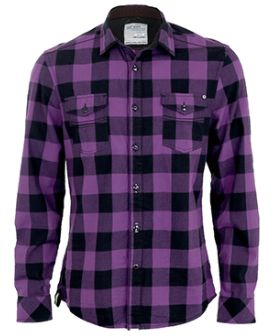 Mens purple and black flannel shirt greek t shirts for Buy plaid shirts online