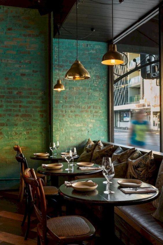 Curious Access Luxxu Net To Find The Best Lighting And Furniture Inspirations For Your New Bar Project Luxury And Still Moder Med Billeder Kaffebar Murstens Vaeg Vaeg Ideer