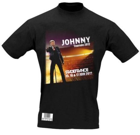 Un t-shirt en guise de billet pour le concert de Johnny Hallyday au Stade de France