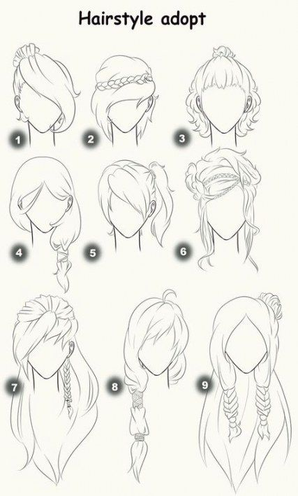 33 Ideas Drawing Hair Female Anime Hairstyles Drawing Hair Tutorial How To Draw Hair Hair Sketch