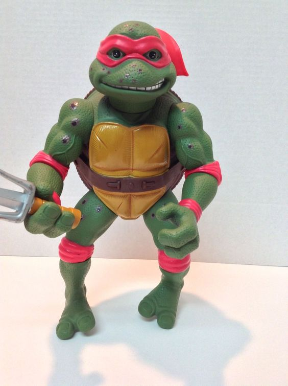 """Giant 1992 Teenage Mutant Ninja Turtles Raphael Movie Mirage Studios 14"""""""