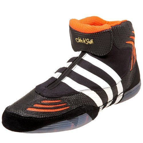 adidas Men's AdiSTRIKE John Smith Wrestling Shoe,Black.Infrared/White,14 M US by adidas. $69.95. Amazon.com                Aspire to the famed talent of John W. Smith in his signature shoe for adidas.                                    Product Description                Available July, 2008. Pre-Order Today!!!Built for the elite wrestler, this shoe has championship technology.  The two-piece rubber outsole design reduces the weight of this wrestling shoe, while a...