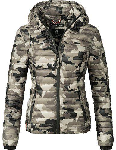 Marikoo Damen Jacke Steppjacke Samtpfote Vegan Hergestellt Army Grey Gr M Jacken Steppjacke Und Leichte Jacke