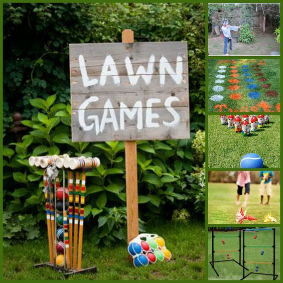 Outdoor Wedding Reception Ideas For Summer: Garden Party Games For The Kids