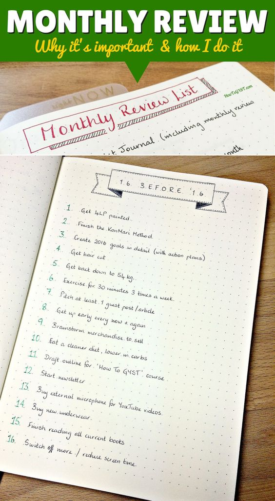 Bullet Journal Monthly REview - why it's important and how I do it. A monthly review will keep you on track towards your goals and help you stay focused on what matters most. Not sure where to start? I've got you covered.
