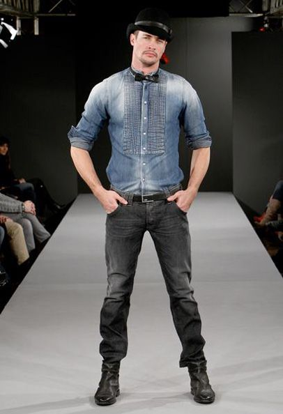 fall collections mens 2012 - needs a duster...the denim tux shirt is growing on me...hmm