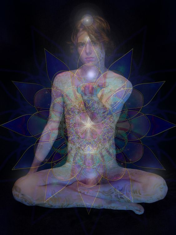 """Here's an image for all you tantric lovers! Image by artist Terry Gates; Digital Photography, New Media Art """"CHAKRAS 1"""""""