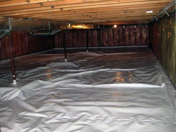 Architecture, Sealed Insulated Crawl Space And How To Insulate A Crawl Space In Your House With The Smart And Unique Design Ideas With The Wooden Material That Put Neatly For The Space With White And Large Area Under ~ How To Consulate A Crawl Space For Your Ceiling