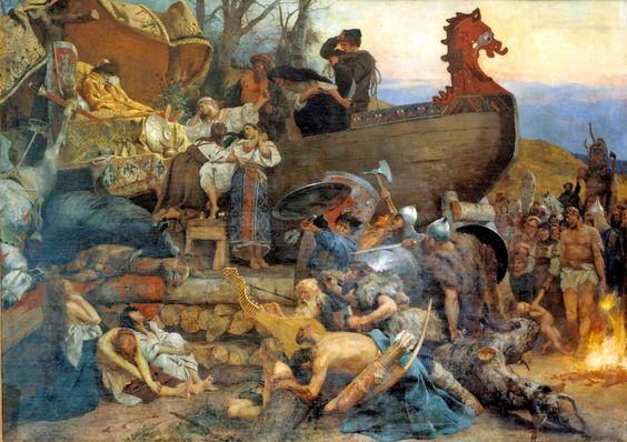 Похороны знатного руса в Булгаре Семирадский Генрих Ипполитович