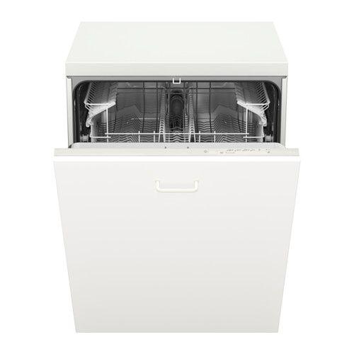 LAGAN Lave-vaisselle encastrable IKEA Vous pouvez aménager l'intérieur de votre lave-vaisselle  grâce aux porte-couverts amovibles.
