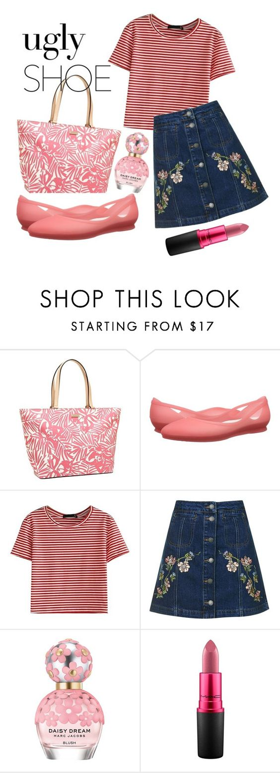 """""""Playing The Ugly Shoe"""" by miranti-nathasia-putri ❤ liked on Polyvore featuring Kate Spade, Crocs, WithChic, Topshop, Marc Jacobs and MAC Cosmetics"""