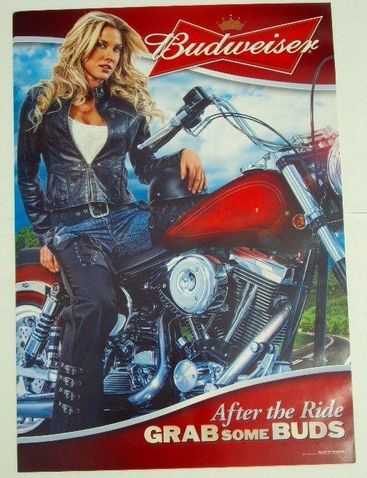 Vintage Biker Girl Cartoon Posters 24 Budweiser Biker Budweiser Cartoon Posters Vintage Beer Girl Motorcycle Girl Budweiser