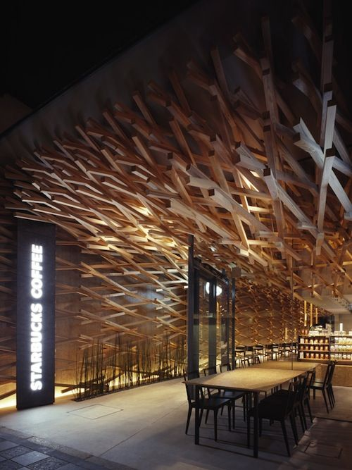 It's amazing...if only it weren't wasted on a Starbucks!  Kuma Designs The World's Most Peaceful Starbucks
