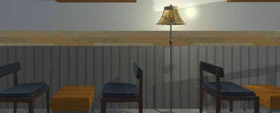 Lighting effect of lamp, panoramic shot without VR goggle view (totally customizable)
