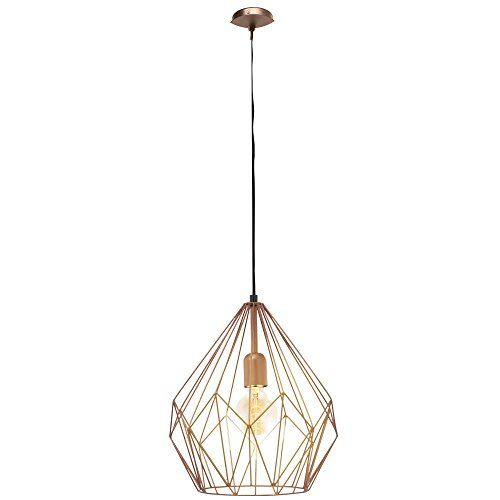retro pendel leuchte hänge lampe esszimmer kupferfarben, Esszimmer dekoo