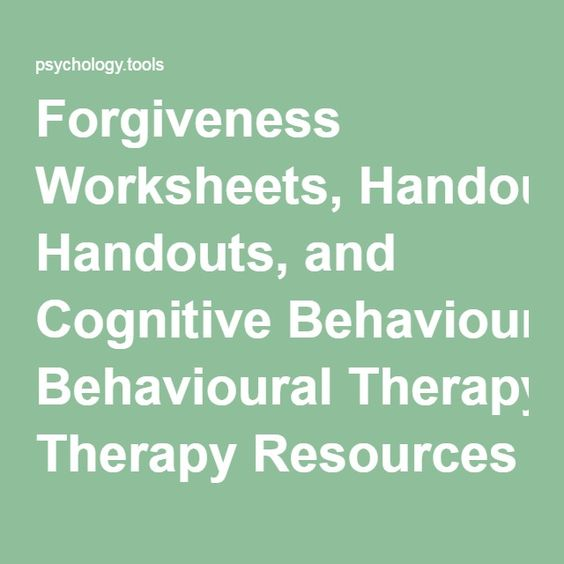 forgiveness worksheets handouts and cognitive behavioural therapy resources psychology tools. Black Bedroom Furniture Sets. Home Design Ideas