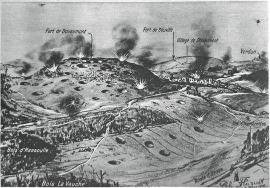 Carte En Relief Des Secteurs Situes Autour De Verdun Douaumont Souville Vue Du Nord Site Estrepublica Bataille De Verdun Premiere Guerre Mondiale Bataille