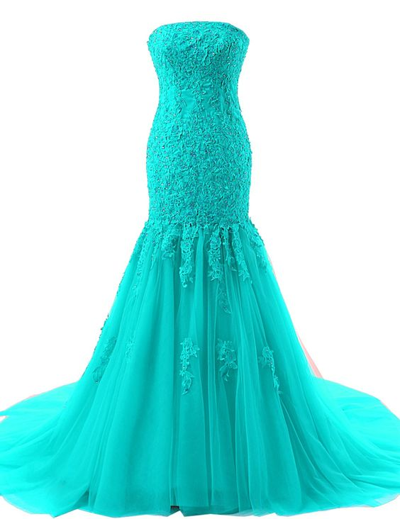 Onlinedress Women\'s Strapless Lace Ball Gown Prom Dresses Size 22 ...