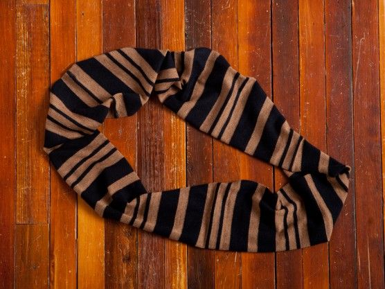 Loop Scarf - Navy & Camel  SALE $48.00