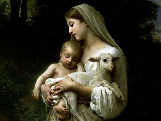 Image result for mary holding lamb