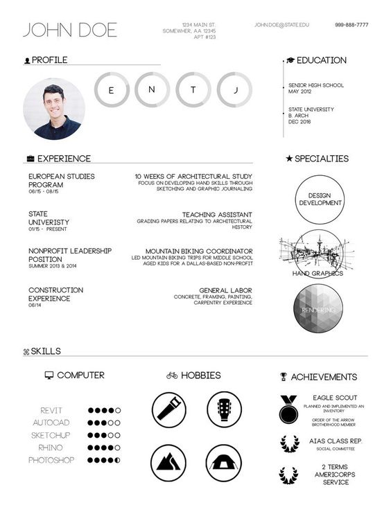 Gallery of The Top Architecture Résumé\/CV Designs - 2 Cv design - architecture student resume