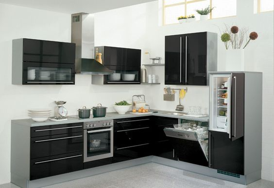 blog cupboards and black kitchens on pinterest. Black Bedroom Furniture Sets. Home Design Ideas