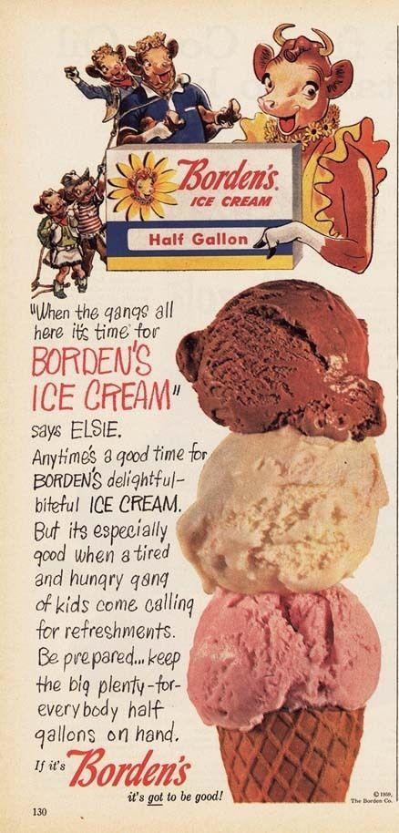 1959 Ad Borden's Ice Cream | eBay