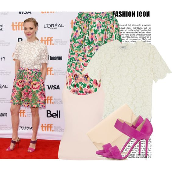 Celebrity Style: Amanda Seyfried by prettyorchid22 on Polyvore featuring moda, Valentino, Yummie by Heather Thomson and Halogen