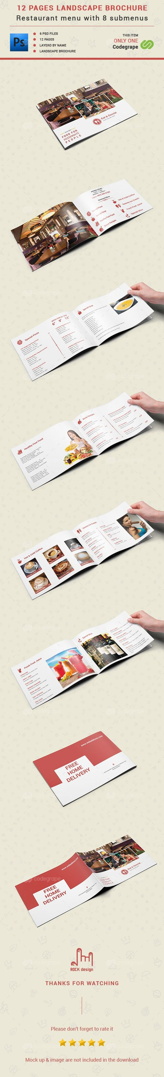 12 Pages Restaurant Menu on @codegrape. More Info: http://www.codegrape.com/item/12-pages-restaurant-menu/8182
