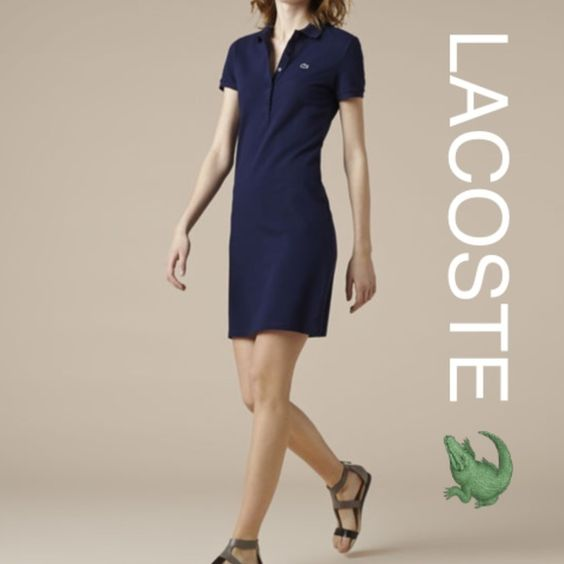 New LACOSTE  polo dress New with tags Lacoste navy blue pollo dress. Size 10, (too big on me on the photos) Lacoste Dresses