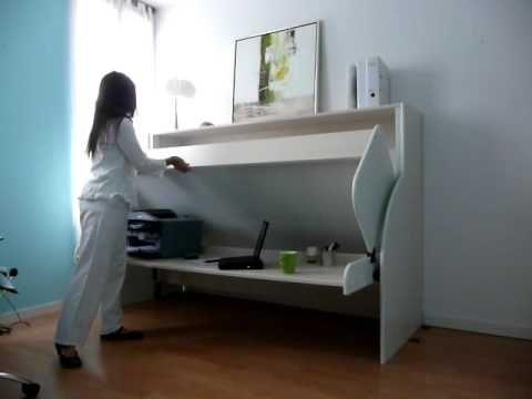 Accueil - Le combiné lit/bureau Hiddenbed®