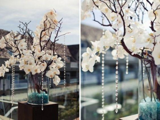 decoracion floral boda azul blanco - Buscar con Google