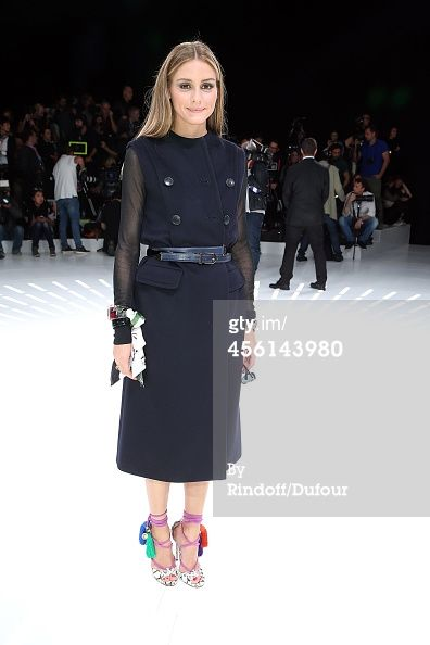 Olivia Palermo attends the Christian Dior show as...