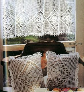 h keln fileth keln gardine crochet curtain cortinas. Black Bedroom Furniture Sets. Home Design Ideas