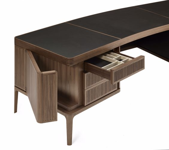 Ceccotti Collezioni 'Paperweight' desk made with solid American walnut wood - new for #Focus16