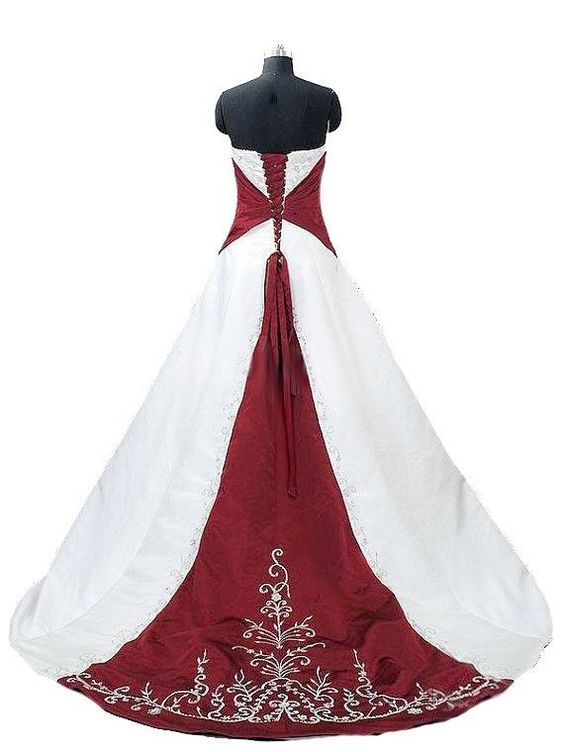 Faironly Embroidery Custom Wedding Dress Bridal Gown Size:6 8 10 12 14 16 18++