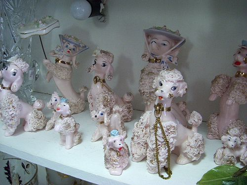 1950s ceramic pink poodle collection