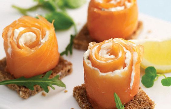 Smoked salmon starter idea for dinner party
