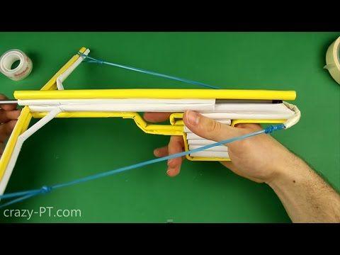 Cómo hacer un papel ballesta y flechas utilizando - YouTube