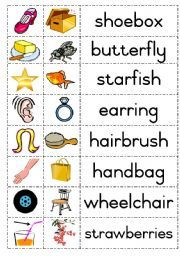 Worksheets I Words For Kids With Pictures english kids worksheets and search on pinterest esl compound words
