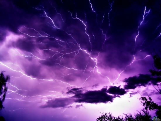 Fabulous purple sky