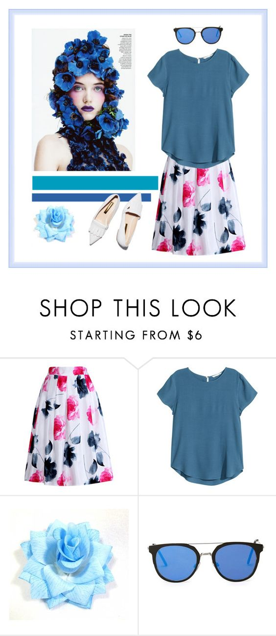 """""""Bursts of Blue"""" by hanshikabiswas ❤ liked on Polyvore featuring Relaxfeel, H&M and Rupert Sanderson"""